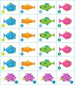 игровые карточки для настольной игры Веселая рыбалка